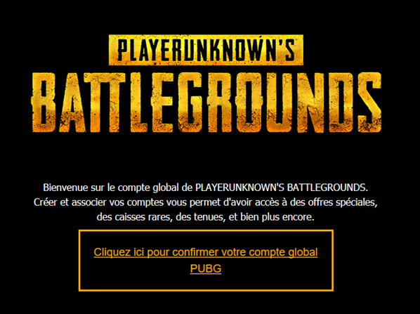 PUBG account activation