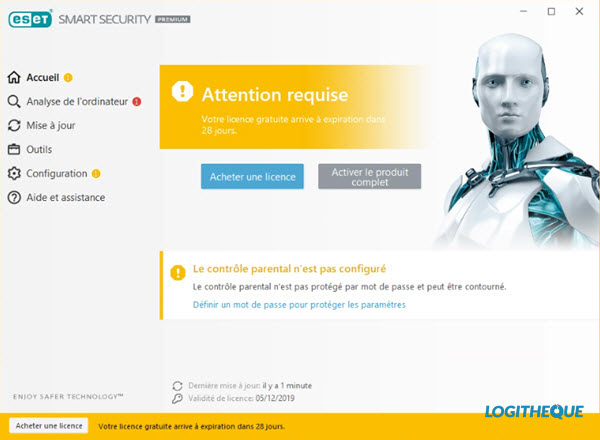 TEST ANTIVIRUS : ESET SMART SECURITY PREMIUM 2020 Interface