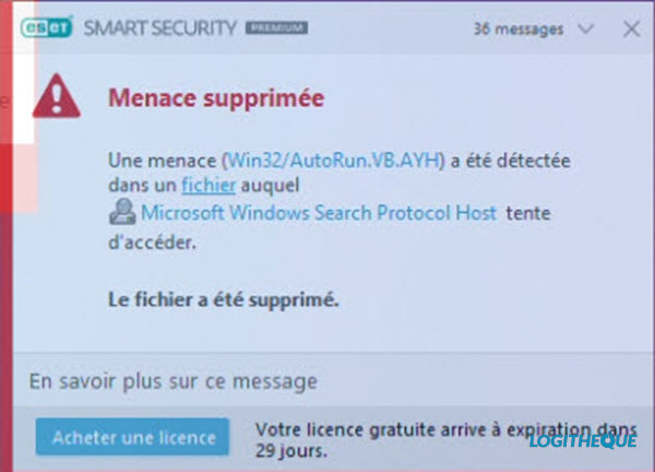TEST ANTIVIRUS : ESET SMART SECURITY PREMIUM 2020 Menace