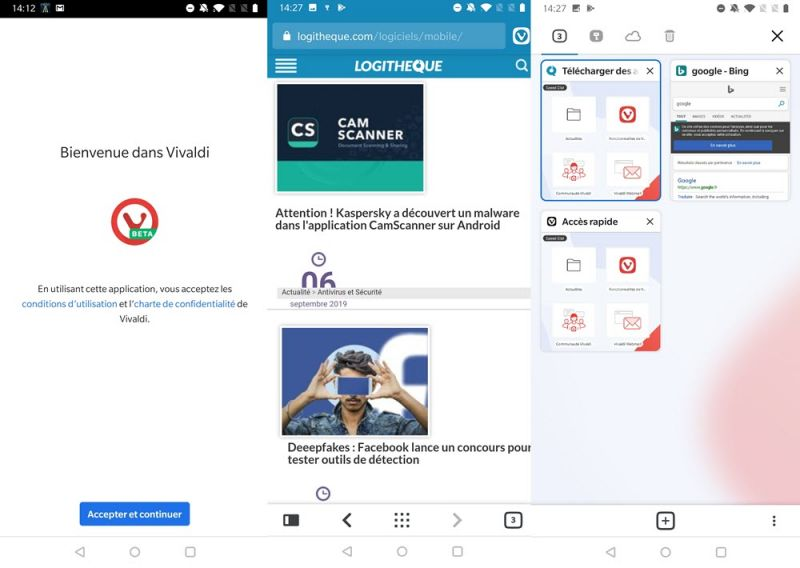 Download the Android version of the Vivaldi browser