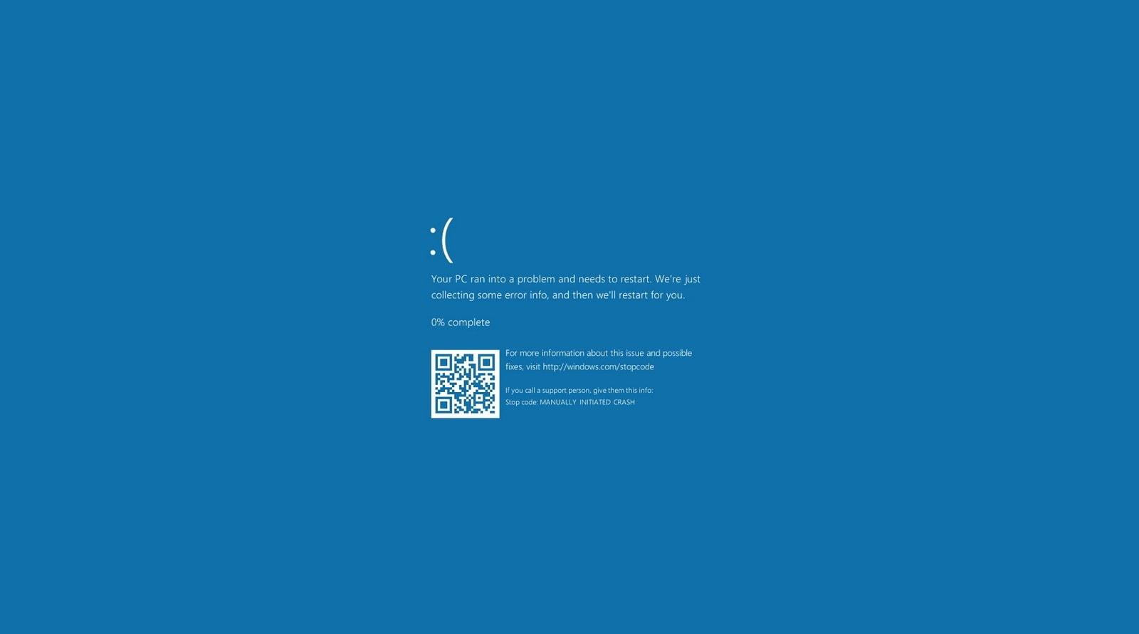 Windows 10 crash