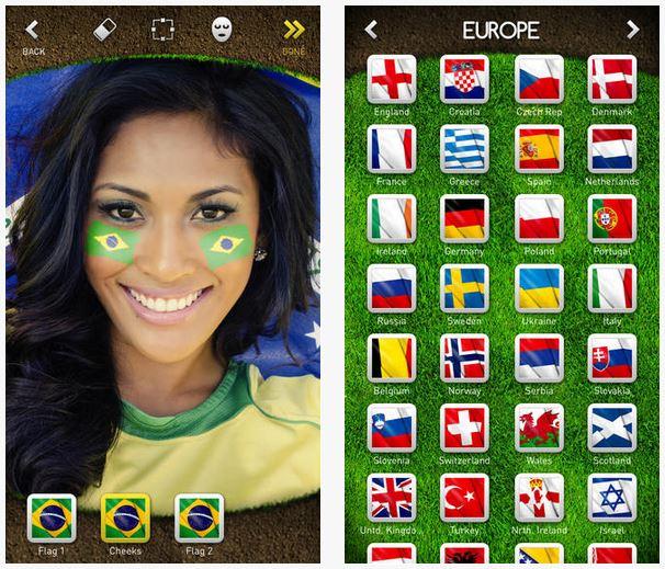 flag face
