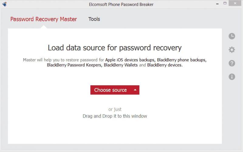 Elcomsoft Phone password Breaker