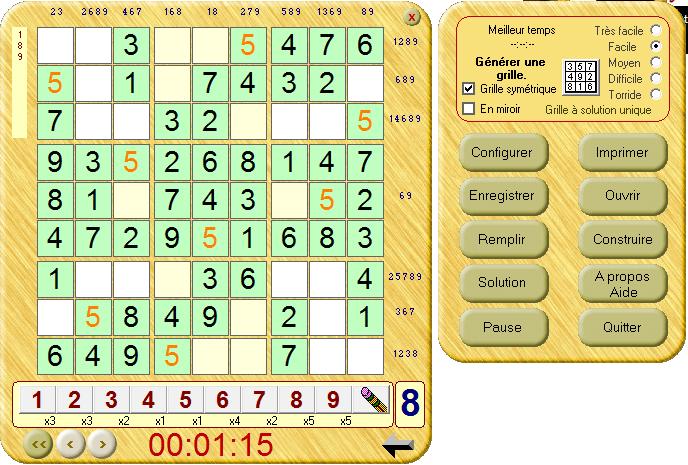 Sudoku loisir