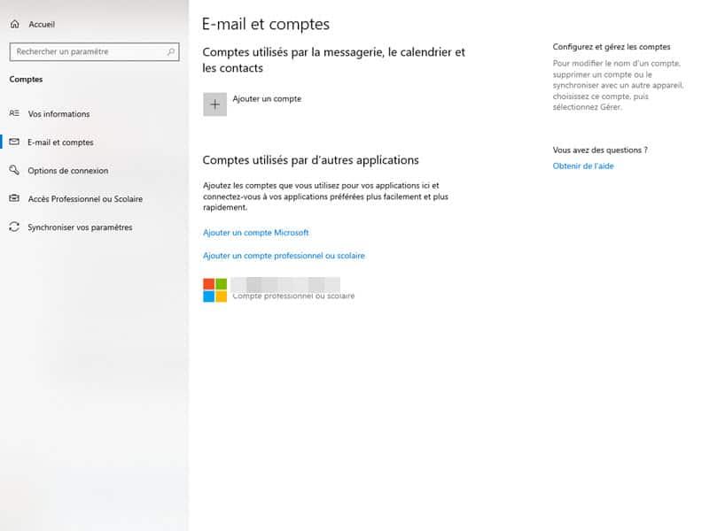 Windows 10 compte utilisateur