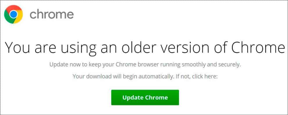 fake update Chrome