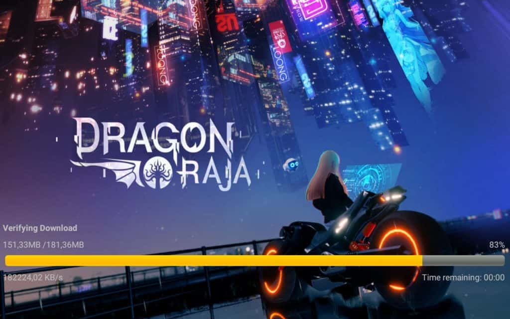 Dragon raja Installation