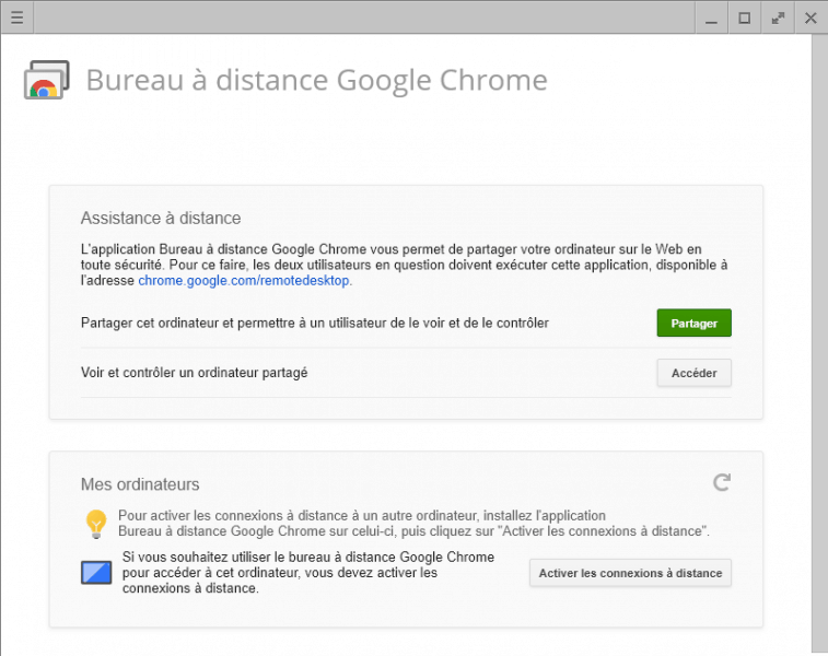 Remote Desktop Chrome