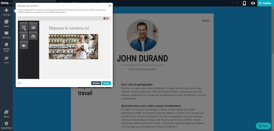 Webself CV en ligne