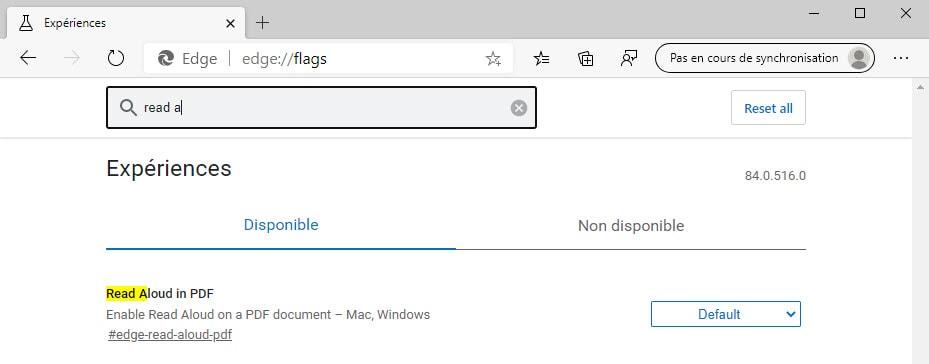 Microsoft Edge PDF reader feature