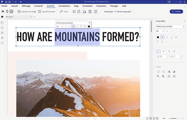 wondershare pdfelement modifier PDF
