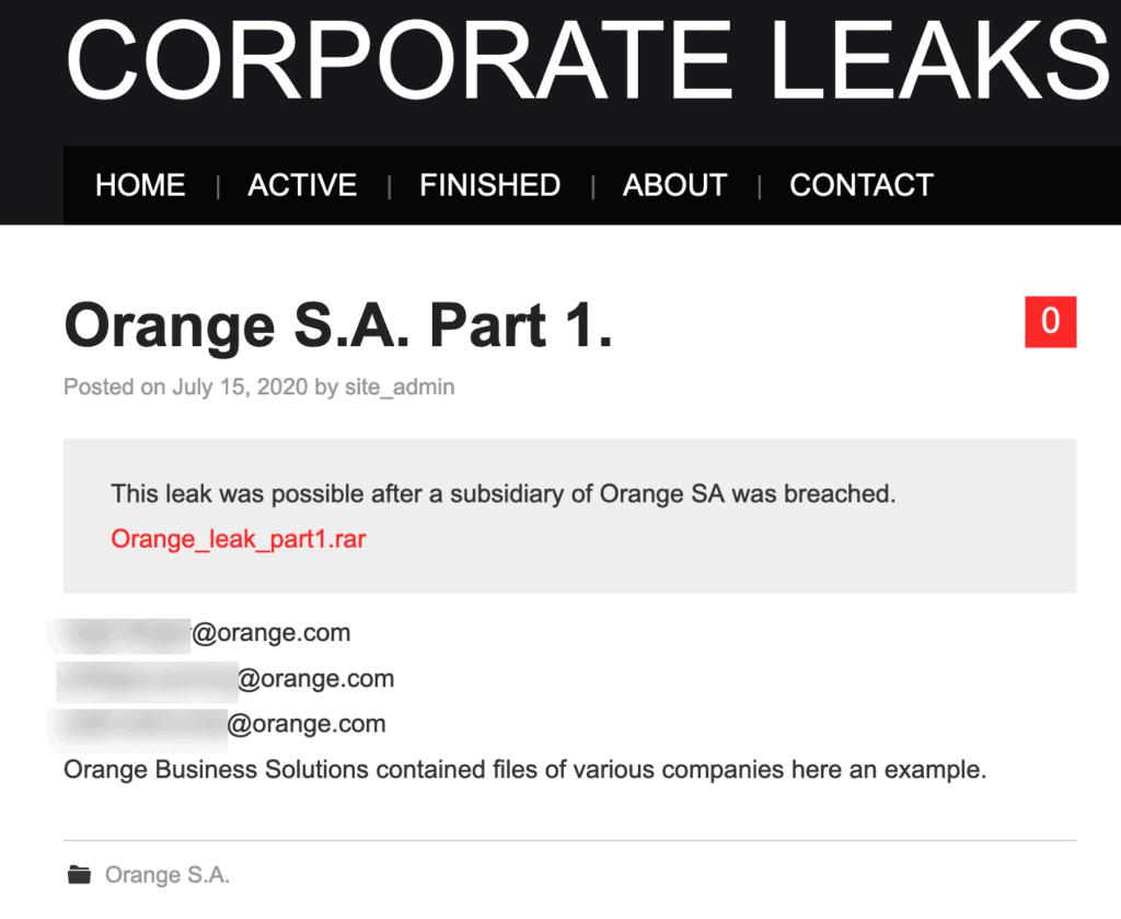 Leak Orange