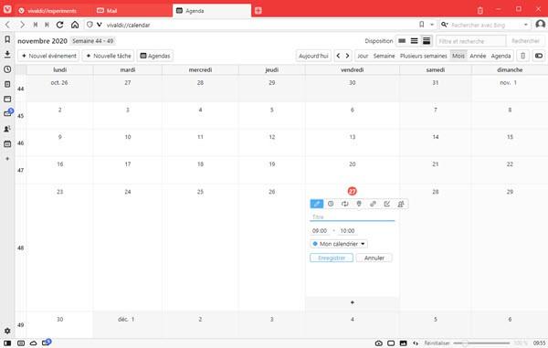 Vivaldi Calendar