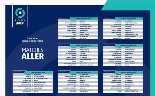 Calendrier Ligue 2