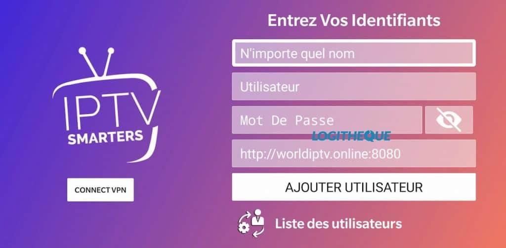 IPTV Smarters Player add user