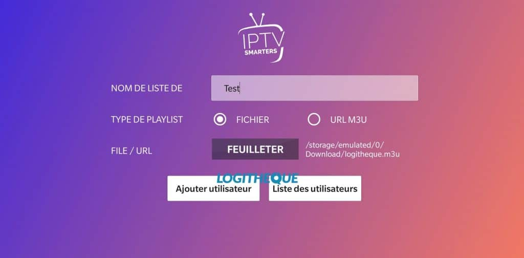 IPTV Smarters Player Add m3u or URL 2