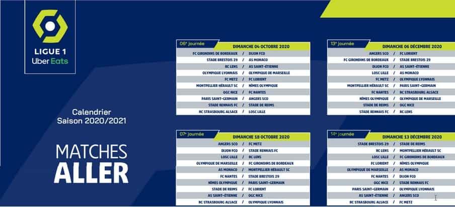 Calendrier Ligue 1