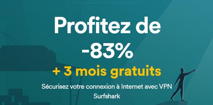 Offre de noël Surfshark VPN
