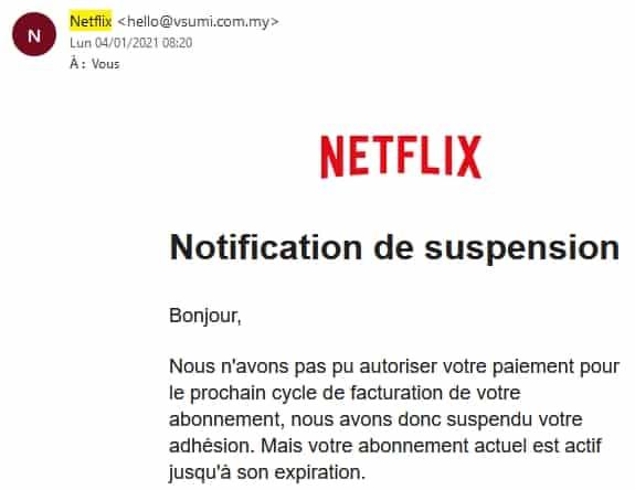 Spam Netflix