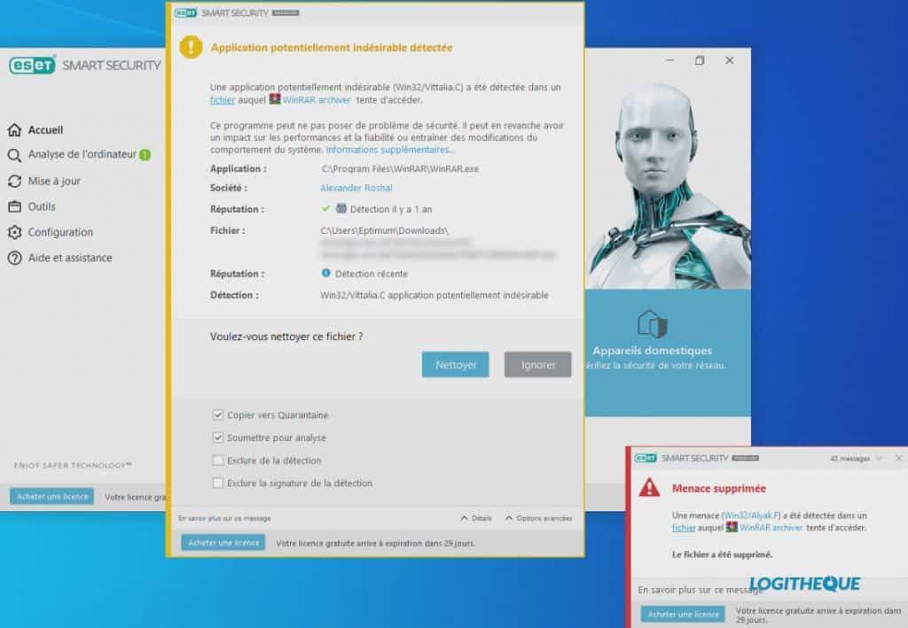 ESET Smart Security Premium notifications virus