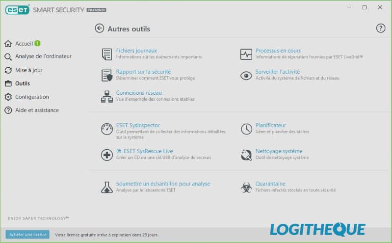 ESET Smart Security Premium outils de sécurité
