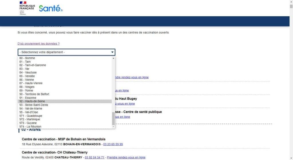 COVID-19 : OÙ SE FAIRE VACCINER ? Sante.fr-vaccination-1-1024x561